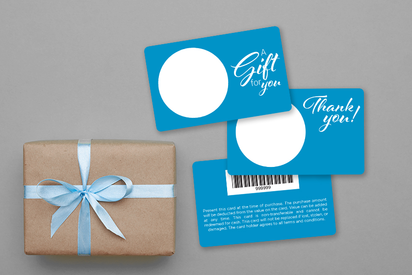 Custom Gift Cards with a Writable Surface