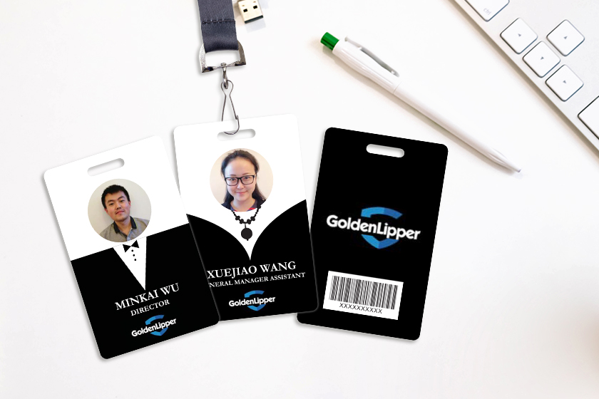 Creative ID Card with a barcode