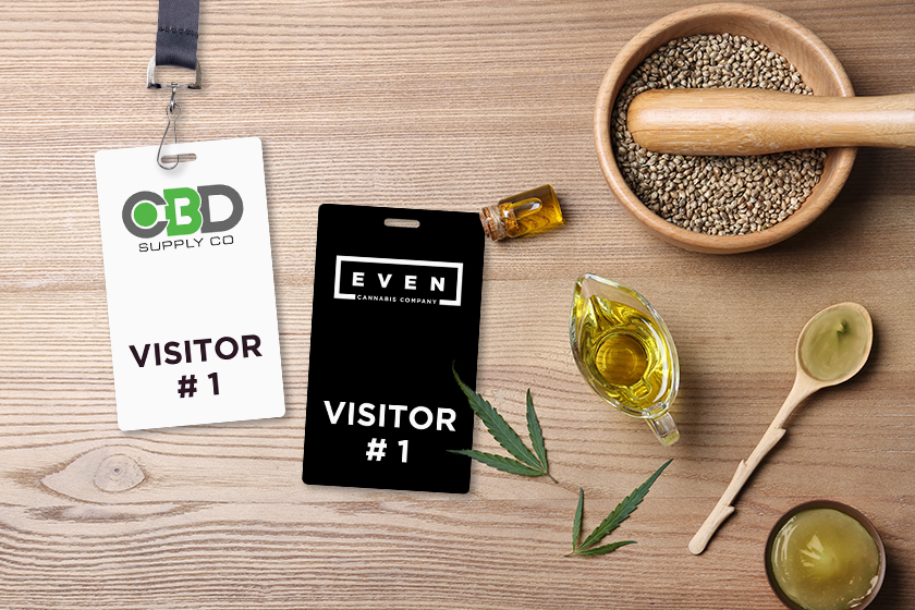 Visitor Badge for a cannabis company