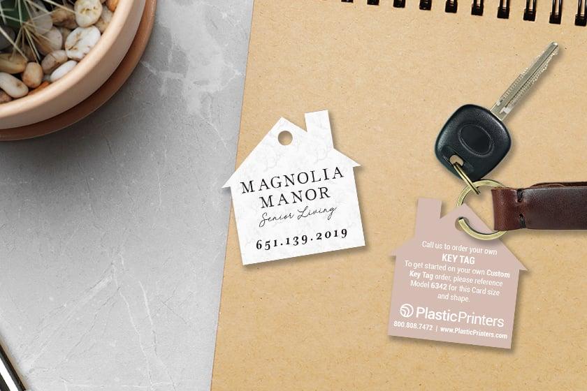 House key tags for a senior living home