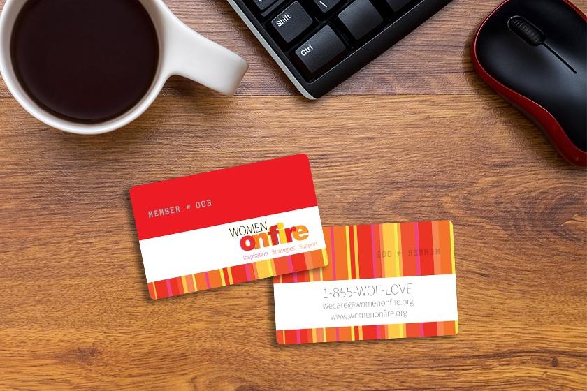 Custom membership cards printed by Plastic Printers