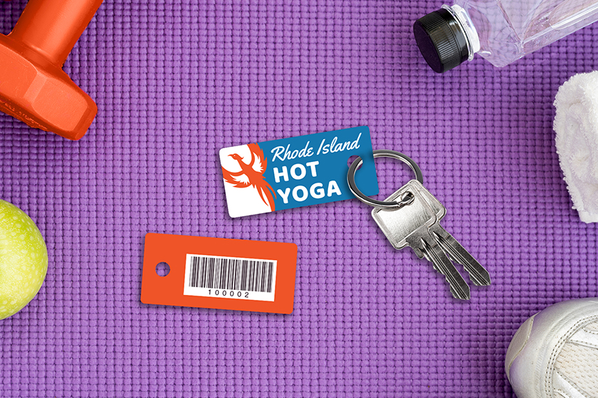 Gym membership key tags