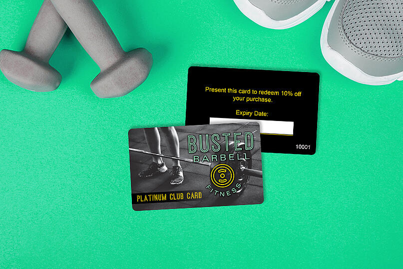 Membership cards for a gym