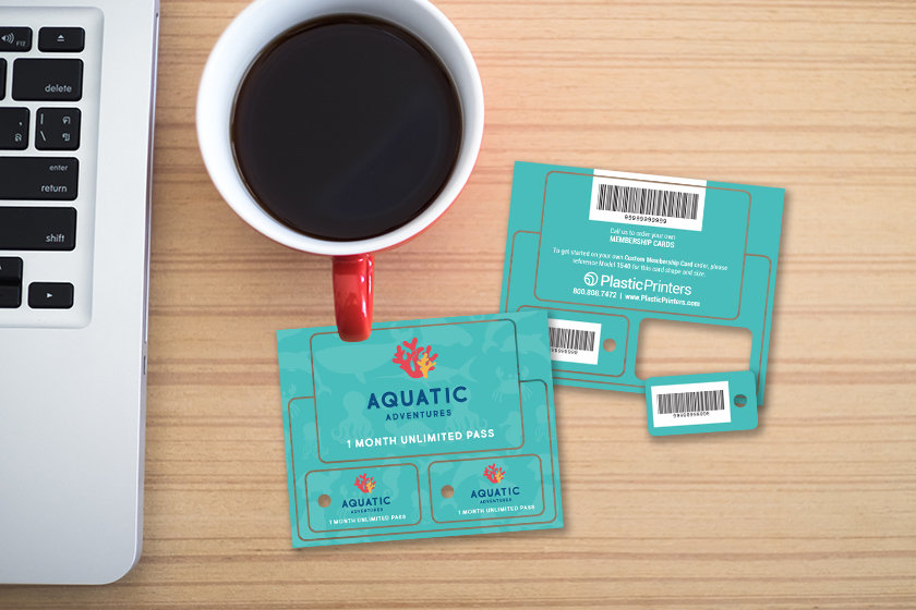 Custom Plastic Membership Key Tags for Aquatic Adventure