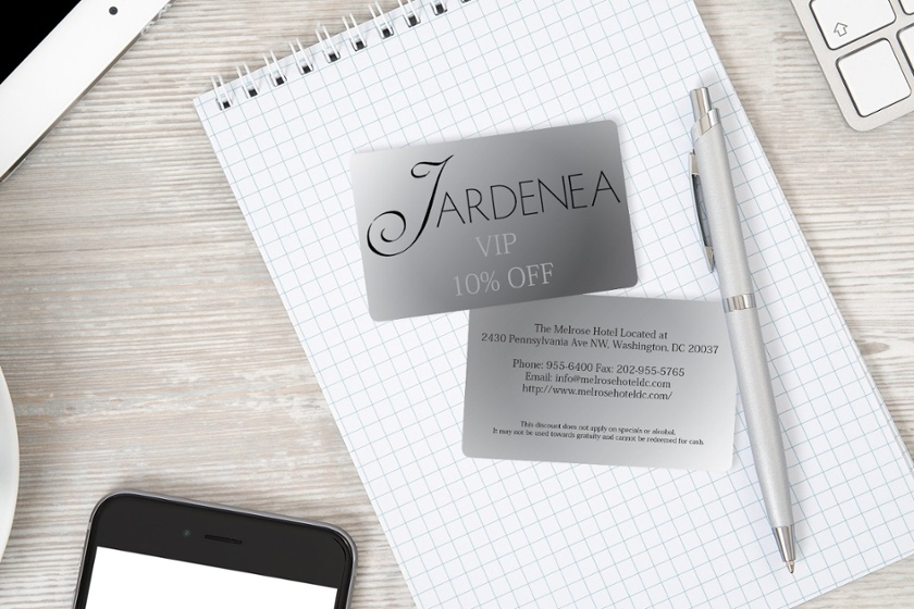 Example of VIP card perks for Jardenea the Melrose Hotel