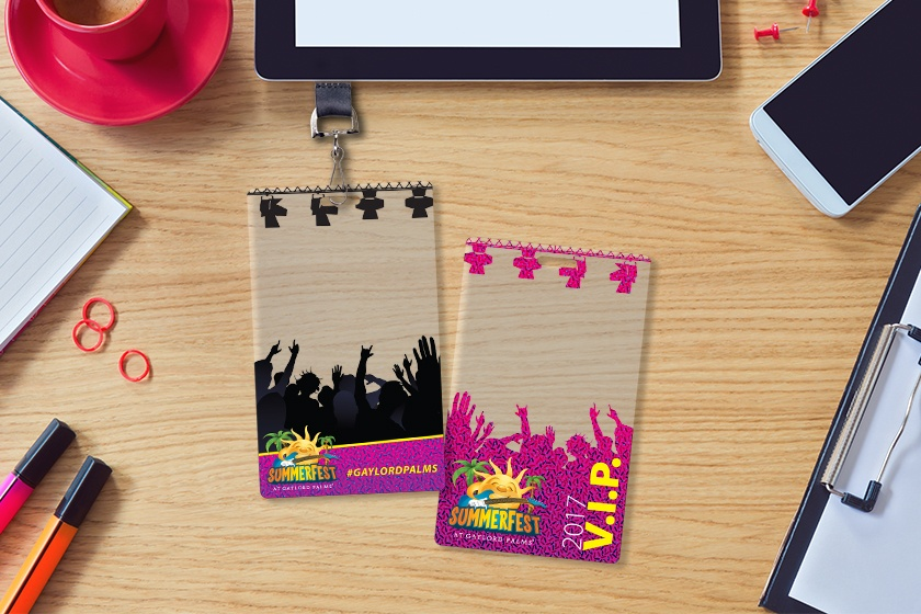 Example of Custom VIP Passes for a Music Festival