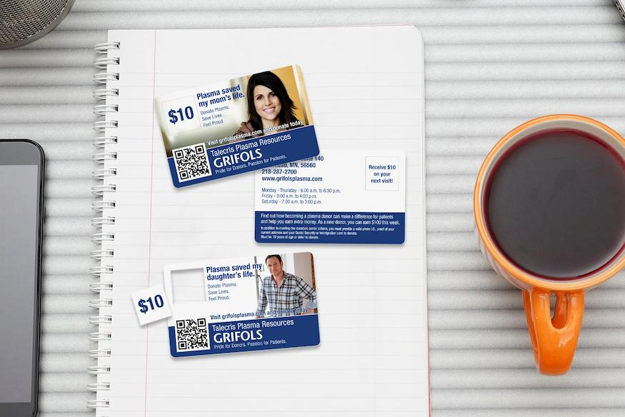 Example of Custom Medical Card and Promo Card