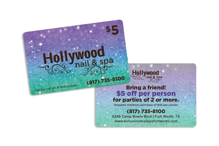 Promo Cards for your Nail Salon Marketing