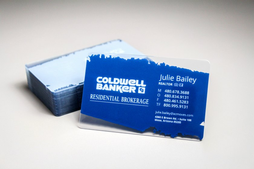 Plastic Real Estate Business Card