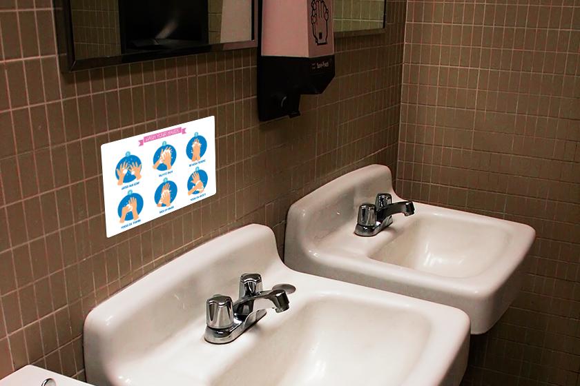 School Sign promoting handwashing