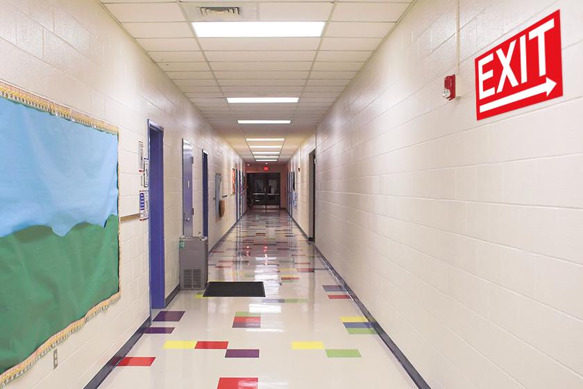 School signs - exit sign