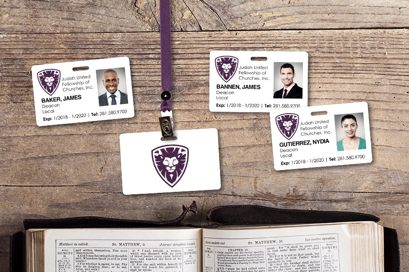 Community Church ID Badge with Variable Photos - NFC Card