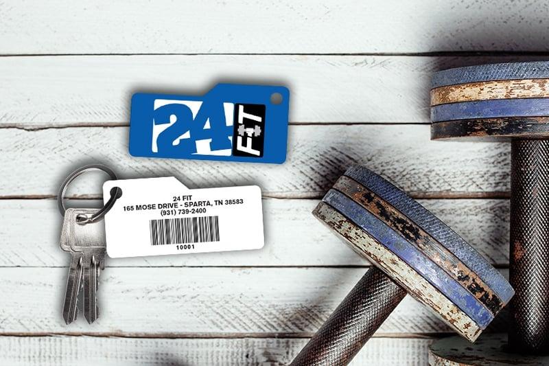 Custom Shape Key Tag with a Barcode - Scannable