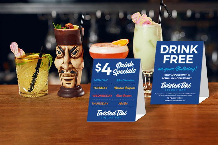 Twisted Liquor Table Cards