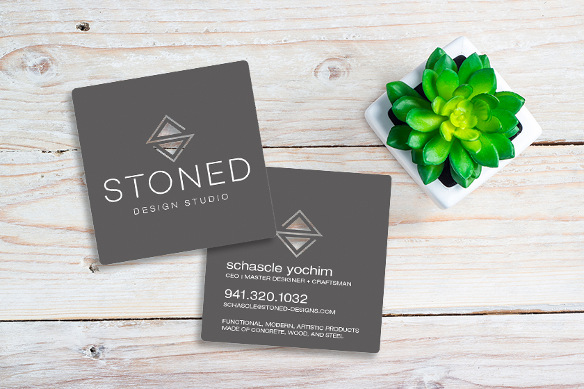 Graphic Designer Business Cards for Stoned Design Studios