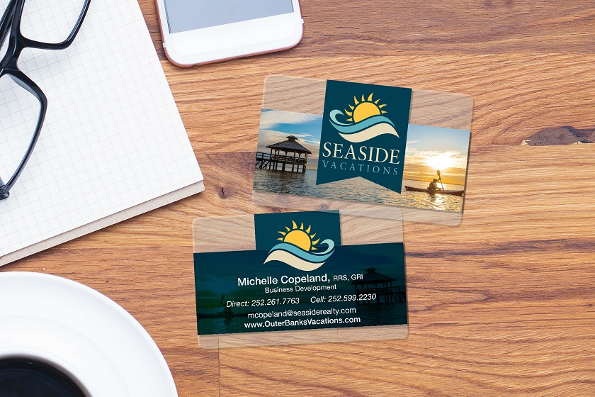 An example of a custom plastic business card