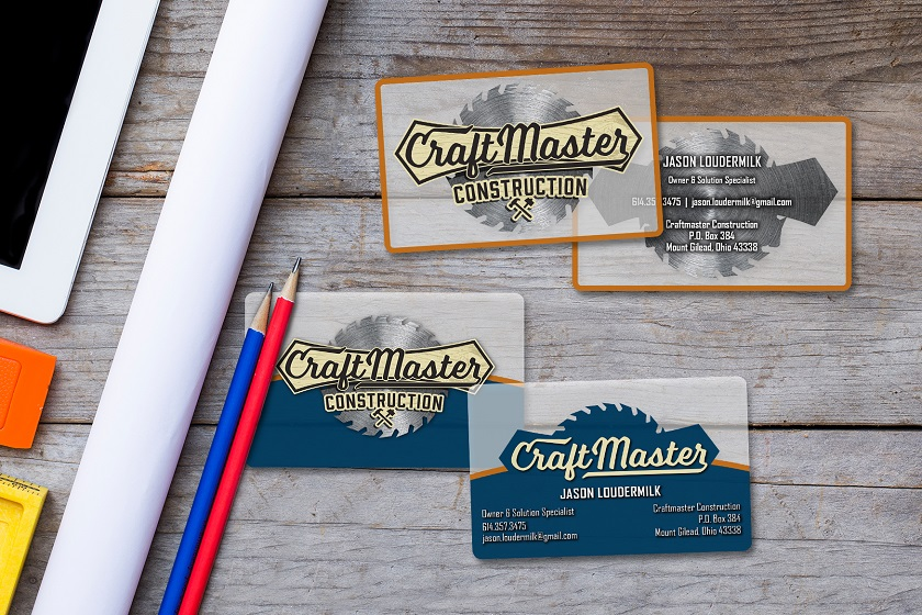 Example of Custom Transparent Business Cards