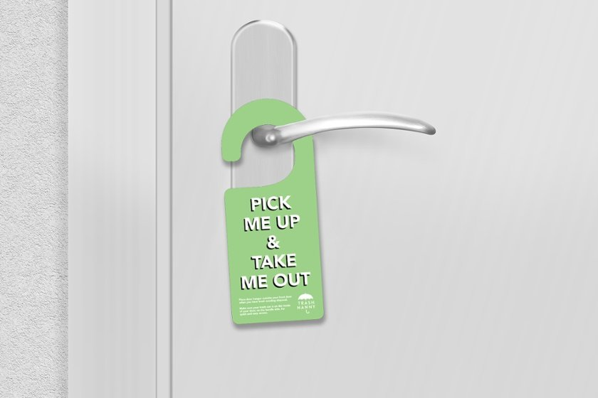 Business door hangers produced by Plastic Printers