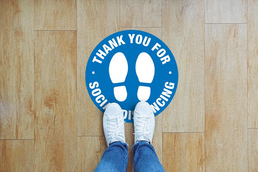 Social distancing floor decals for your pet shop