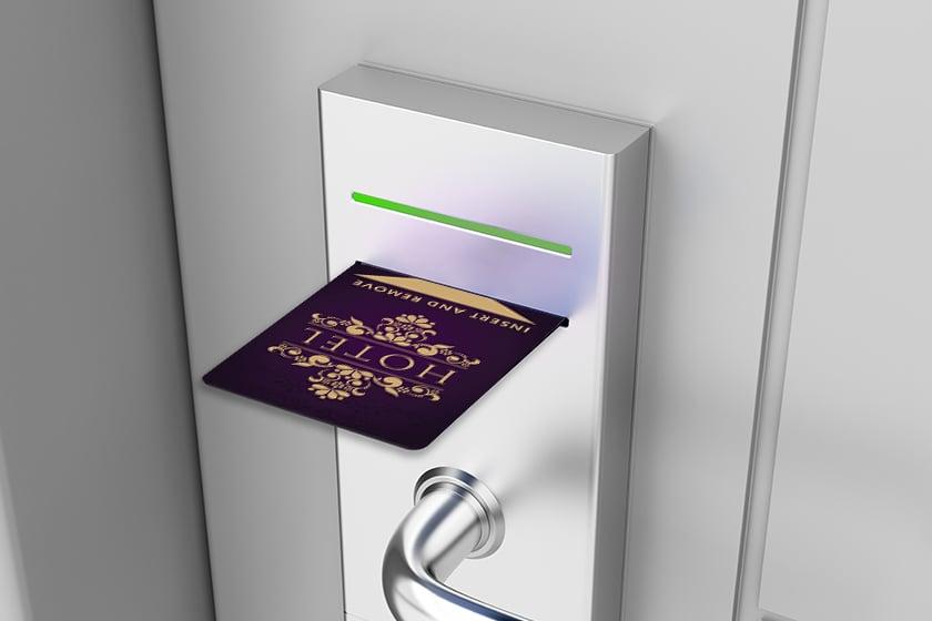 Hotel Door Key Card Opening Hotel Key Card System