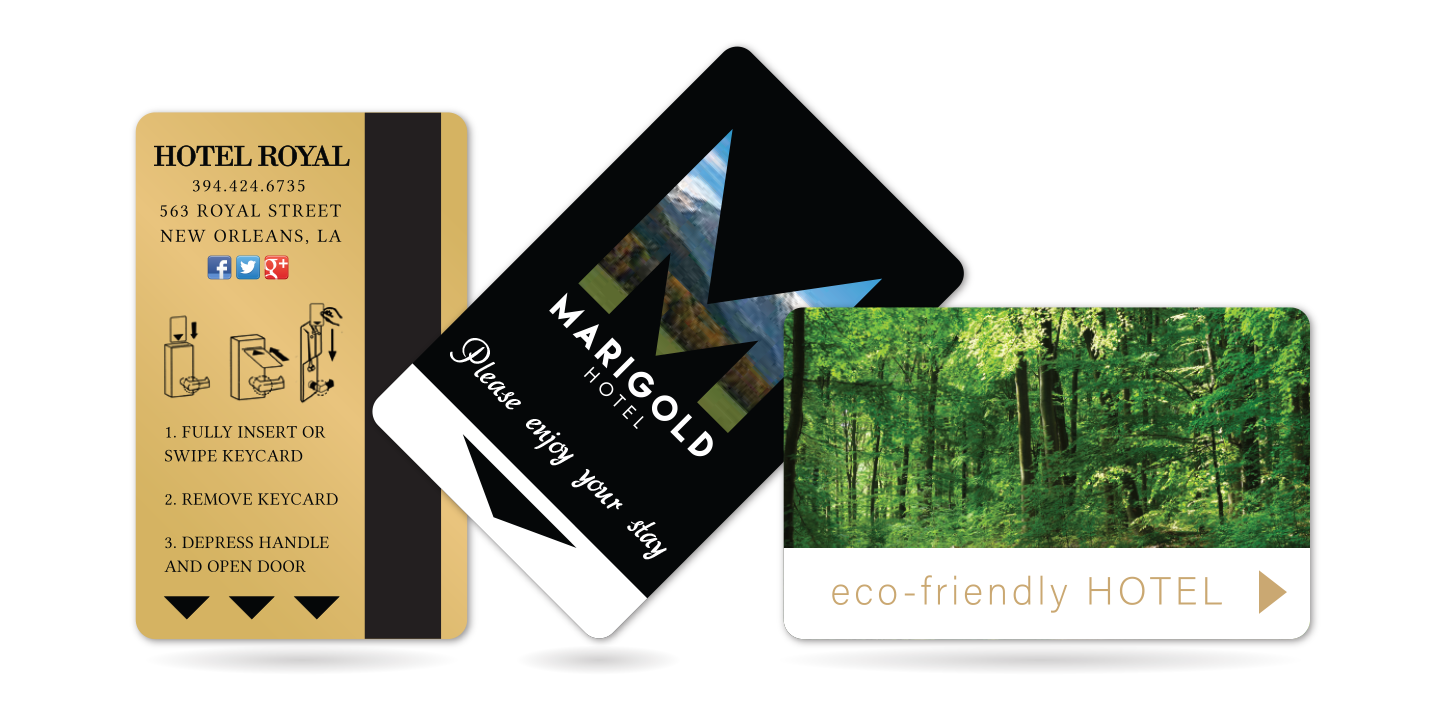 Hotel Key Card Banner with Magnetic Stripe Cards, RFID Cards and NFC Cards