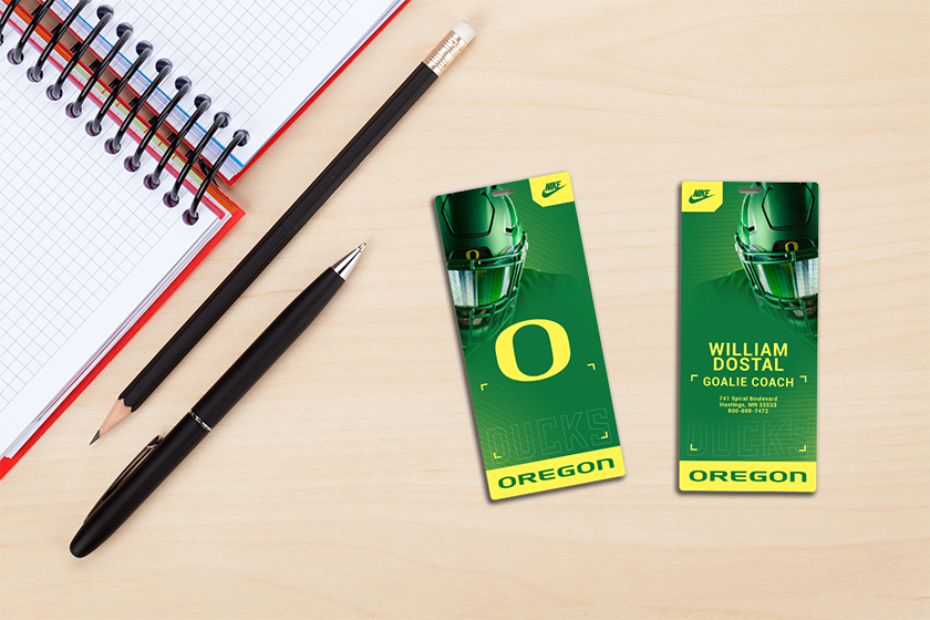 Football Team Duffle Bag Tag Personalized School Luggage Card by Plastic Printers, Inc.