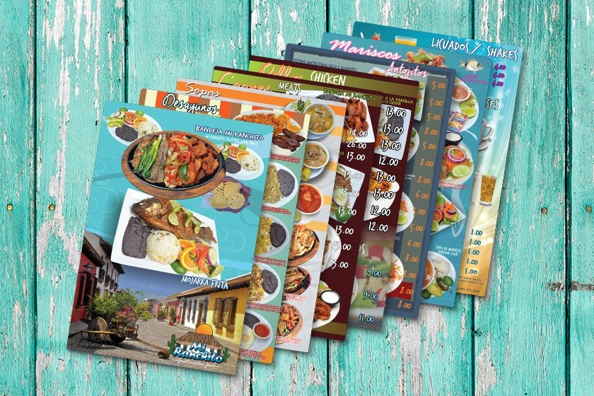 Guatemalan Restaurant Menu - Multiple Versions