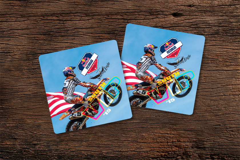 Example of Die Cut VIP Card for Red Bull
