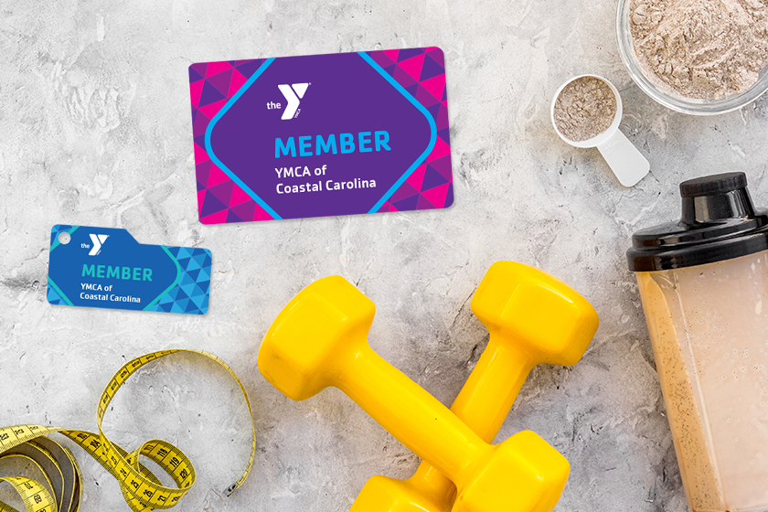 Membership cards for a gym and fitness center