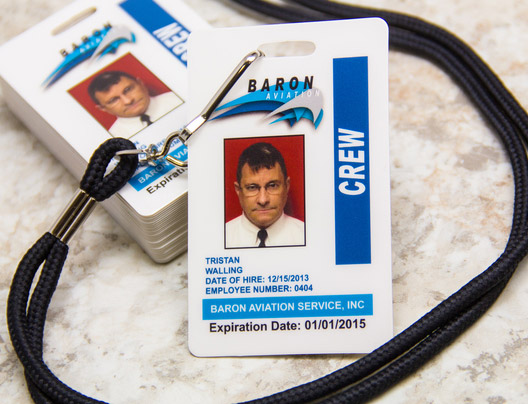 Example of Access Card for Baron Aviaton
