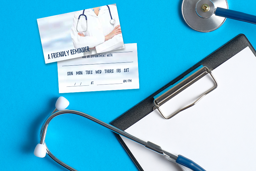 Doctor appointment card for medical marketing