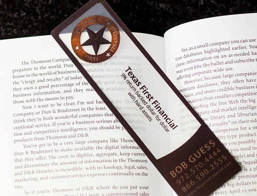 Example of Custom Bookmark for Texas First Financial