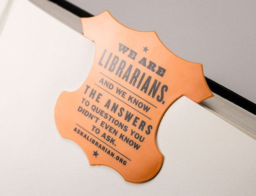 Example of Custom Bookmarks Created for AskALibrarian.org