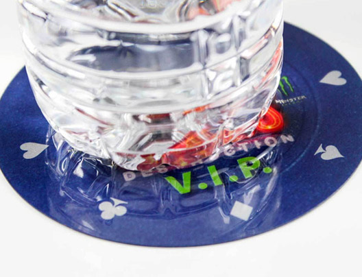 Example of Custom Coasters by PlasticPrinters.com