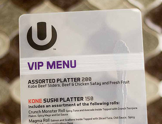 Example of Custom Menu Printing by PlasticPrinters.com