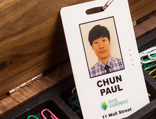 Example of Photo ID Badge Card for NYSE Euronext