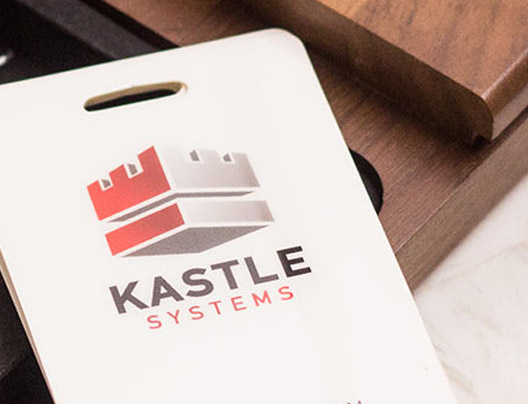 Example of Scannable ID Badge Card for Kastle Systems
