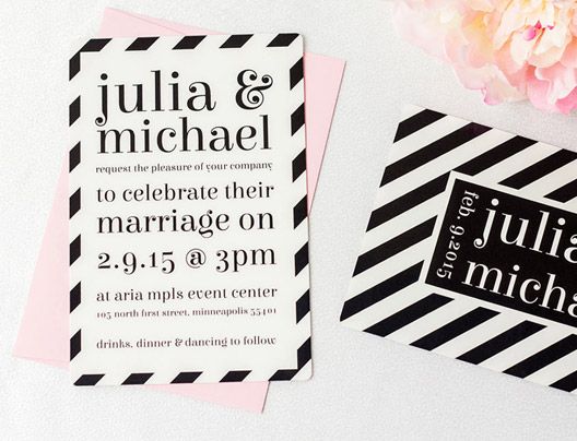 Example of Custom Invitations by PlasticPrinters.com