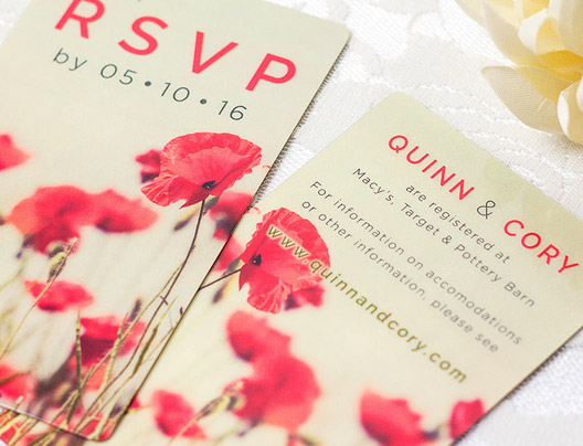 Example of Custom Wedding Invitation Card by PlasticPrinters.com