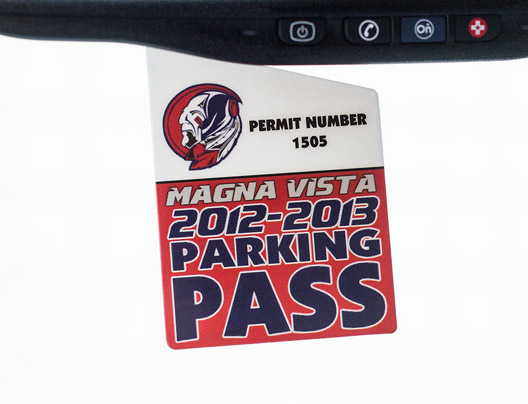 Example of Custom Parking Permits for Magna Vista