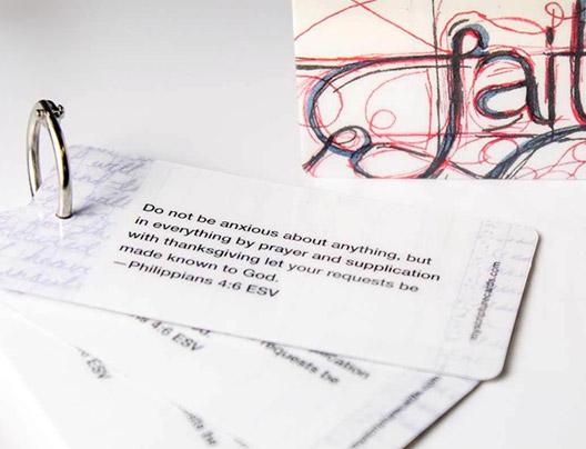 Example of Custom Prayer Cards by Plastic Printers, Inc.