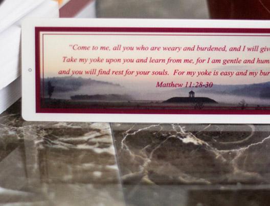 Example of Plastic Memorial Card by PlasticPrinters.com