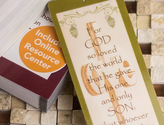 Example of Custom Prayer Bookmark by PlasticPrinters.com