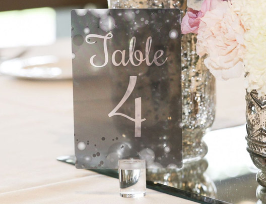 Example of  Custom Table Numbers by PlasticPrinters.com