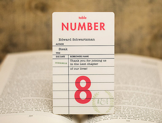 Example of Table Numbers Card by Plastic Printers, Inc.