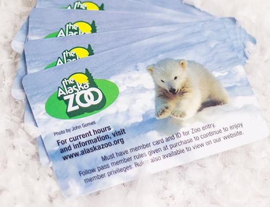 Example of Custom VIP Card for the Alaska Zoo