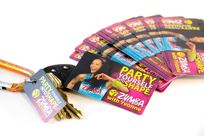 Custom Plastic Membership Key Tags for ZUMBA
