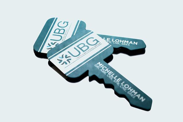 What business card size is best for your business key shaped business cards reheart Image collections