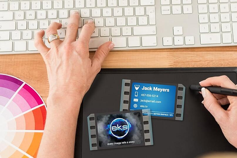 Clear business cards make a big impression
