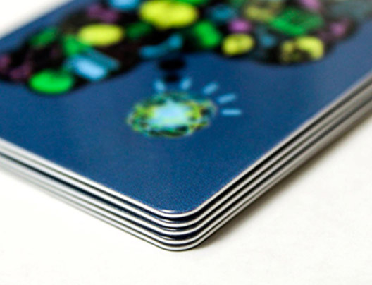 Example of Plastic Business Cards by PlasticPrinters.com